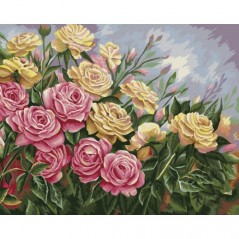 PAINT BY NUMBERS KIT ROSES 40X50 CM B062 Framed