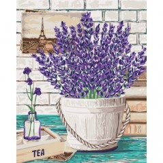 PAINT BY NUMBERS KIT LAVENDER AROMA 40X50 CM B080 Framed