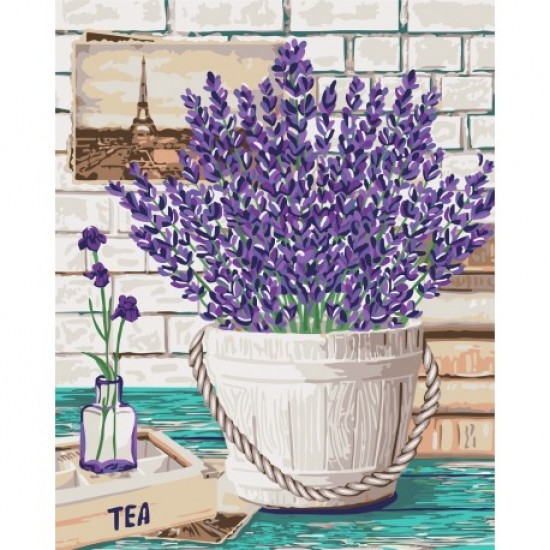 PAINT BY NUMBERS KIT LAVENDER AROMA 40X50 CM B080