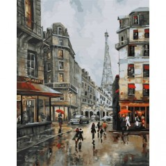 PAINT BY NUMBERS KIT DAY IN PARIS 40X50 CM D012 Framed