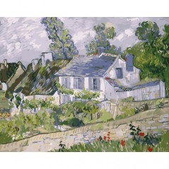 PAINT BY NUMBERS KIT HOUSE IN AUVERS 40X50 CM G003 Framed