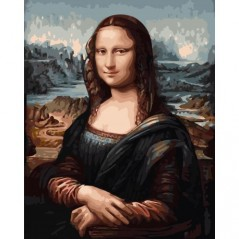PAINT BY NUMBERS KIT MONA LISA 40X50 cm G014 Framed