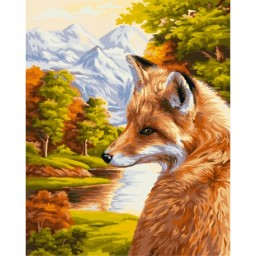 PAINT BY NUMBERS KIT FOX 40X50 CM H055 Pre-order