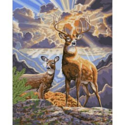 PAINT BY NUMBERS KIT NORTHERN DEER 40X50 CM H062  Pre-order