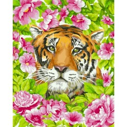 PAINT BY NUMBERS KIT ROMANTIC TIGER 40X50 CM H099
