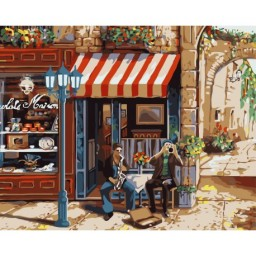 PAINT BY NUMBERS KIT STREET MUSICIANS 40X50 CM J018
