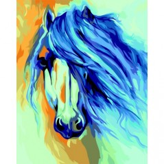 PAINT BY NUMBERS KIT HORSE MARCIA BALDWIN 40X50 CM T124 Framed
