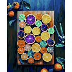 PAINT BY NUMBERS KIT FRUIT MIX 40X50 CM T307 Framed