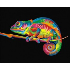 PAINT BY NUMBERS KIT RAINBOW CHAMELEON A4 T40500004