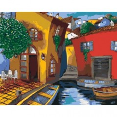 PAINT BY NUMBERS KIT VENICE STREETS T40500014 Framed