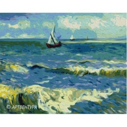 PAINT BY NUMBERS KIT SEA LANDSCAPE VAN GOGH T40500168     40 x 50 cm.
