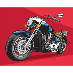 PAINTING BY NUMBERS CHOPPER 40X50 CM T40500174