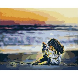 PAINTING BY NUMBERS KIT GIRL WITH LANTERN 40X50 CM T40500308