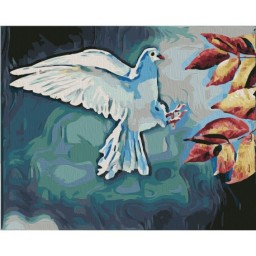 PAINTING BY NUMBERS KIT WHITE DOVE 40X50 CM T40500323