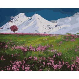 PAINTING BY NUMBERS KIT MOUNTAIN TOPS 40X50 CM T40500328