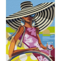 PAINT BY NUMBERS KIT BEACH BEAUTY TRISH BIDDLE T50400114