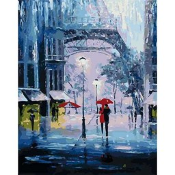 PAINTING BY NUMBERS RAIN OF ROMANCE 50X40CM T50400251