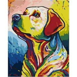 PAINTING BY NUMBERS BEST FRIEND 50X40CM T50400253