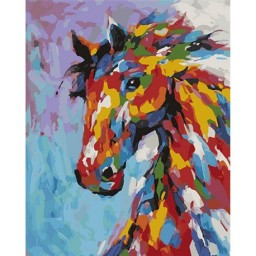 PAINTING BY NUMBERS KIT HORSE 50X40CM T50400257