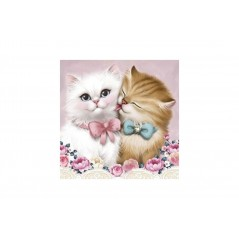 DIAMOND PAINTING KIT 2 CATS AZ-1296