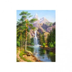 DIAMOND PAINTING KIT MOUNTAIN WATERFALL AZ-1347