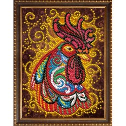 DIAMOND PAINTING KIT FIRE ROOSTER AZ-3017