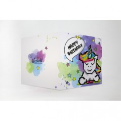 DIAMOND PAINTING CARD HAPPY BIRTHDAY (UNICORN) WC0293