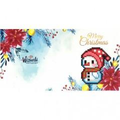 DIAMOND PAINTING CARD MERRY CHRISTMAS WC0313
