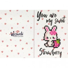 DIAMOND PAINTING CARD SWEET STRAWBERRY WC0353