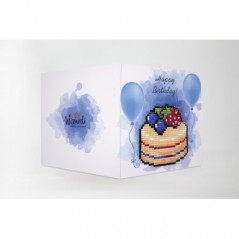 DIAMOND PAINTING CARD HAPPY BIRTHDAY (CAKE) WC0394