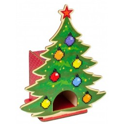 DIAMOND PAINTING PLYWOOD KIT CHRISTMAS TREE WW002 Tea box