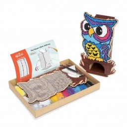 DIAMOND PAINTING PLYWOOD KIT OWL TEA HOUSE WW003