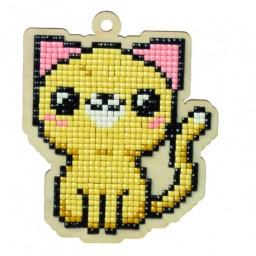 DIAMOND PAINTING PLYWOOD KIT CHARM CAT EUGENE WWP109