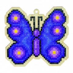 DIAMOND PAINTING PLYWOOD KIT CHARM BUTTERFLY WWP117