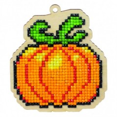 DIAMOND PAINTING PLYWOOD KIT CHARM PUMPKIN WWP156