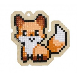 DIAMOND PAINTING PLYWOOD KIT CHARM FOX WWP254