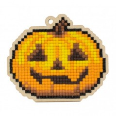 DIAMOND PAINTING PLYWOOD KIT CHARM JACK-O'LANTERN WWP344