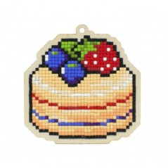 DIAMOND PAINTING PLYWOOD KIT CHARM CAKE WWP394