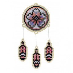 DIAMOND PAINTING PLYWOOD KIT CHARM DREAMCATCHER - ORCHID WWP407