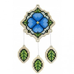 DIAMOND PAINTING PLYWOOD KIT CHARM DREAMCATCHER - FORGET-ME-NOT WWP409