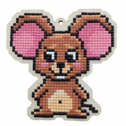 DIAMOND PAINTING PLYWOOD KIT CHARM LITTLE MOUSE WWP442