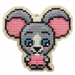 DIAMOND PAINTING PLYWOOD KIT CHARM FIELD MOUSE WWP443