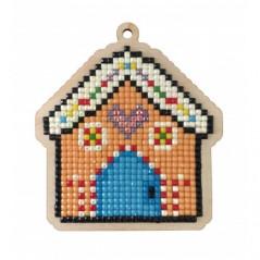 DIAMOND PAINTING PLYWOOD KIT CHARM GINGERBREAD HOUSE WWP454