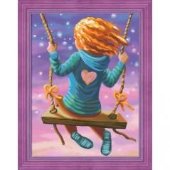 DIAMOND PAINTING KIT FLYING GIRL AZ-1613