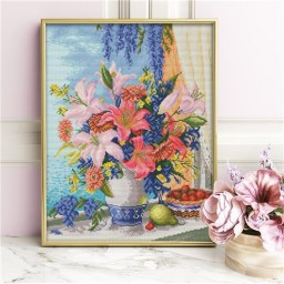 DIAMOND PAINTING KIT LILAC BOUQUET AZ-1648 Pre-order only
