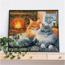 DIAMOND PAINTING KIT 2 CATS AZ-1649 Pre-order only