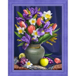 DIAMOND PAINTING KIT DAFFODILS AND IRISES AZ-1693 Pre-order only