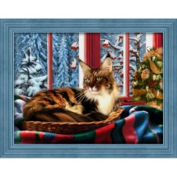 DIAMOND PAINTING KIT MAINE COON AT THE WINDOW AZ-1695 Pre-order only