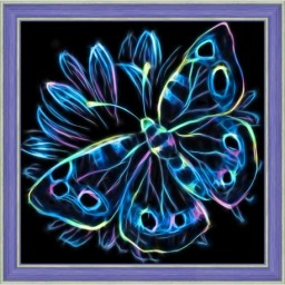 DIAMOND PAINTING KIT NEON BUTTERFLY AZ-1713 Pre-order only