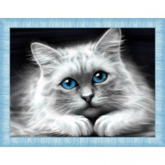 DIAMOND PAINTING KIT BLUE-EYED CAT AZ-1761